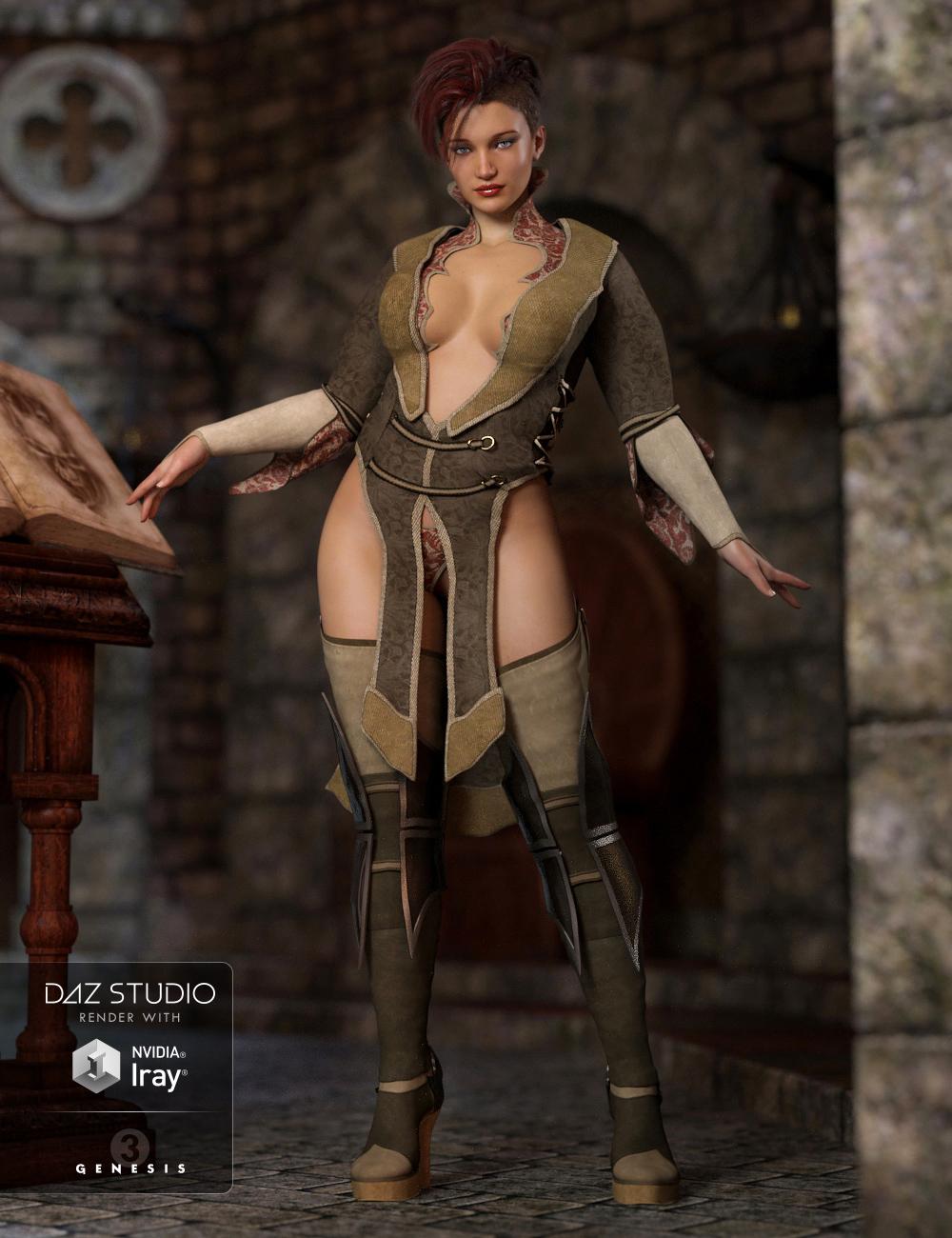 Zodiac Sorceress Outfit for Genesis 3 Female(s) by: Barbara BrundonSarsa, 3D Models by Daz 3D