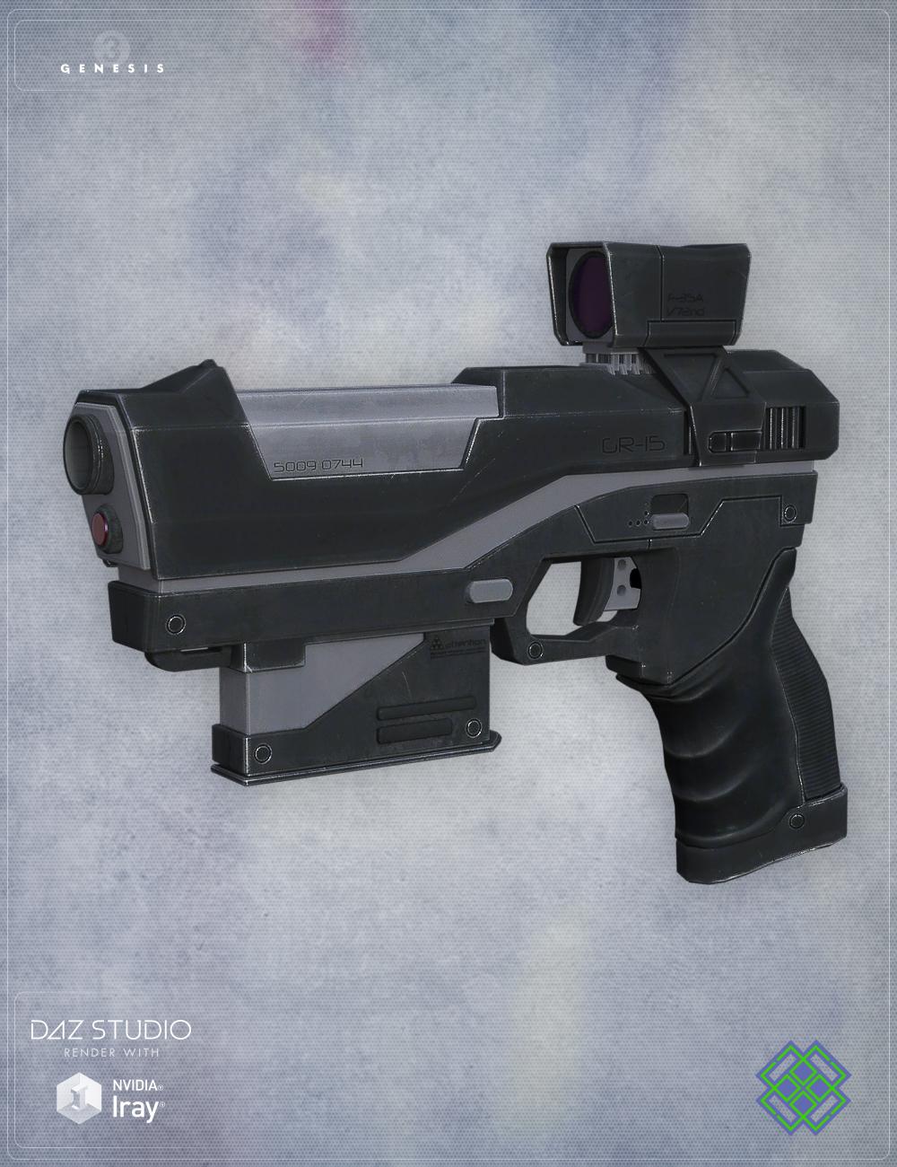 Gun GR15 for Genesis 3 Female(s) by: Velemudr, 3D Models by Daz 3D