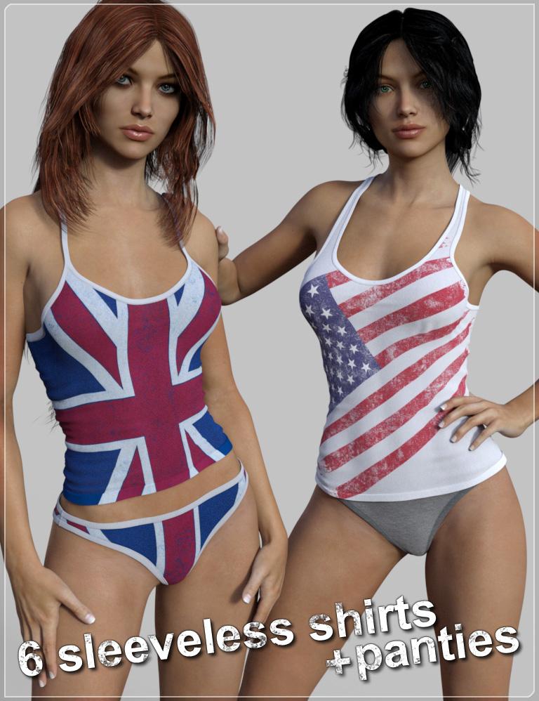 FM Tank-top & Panties Pack for Genesis 3 Female(s) by: Flipmode, 3D Models by Daz 3D