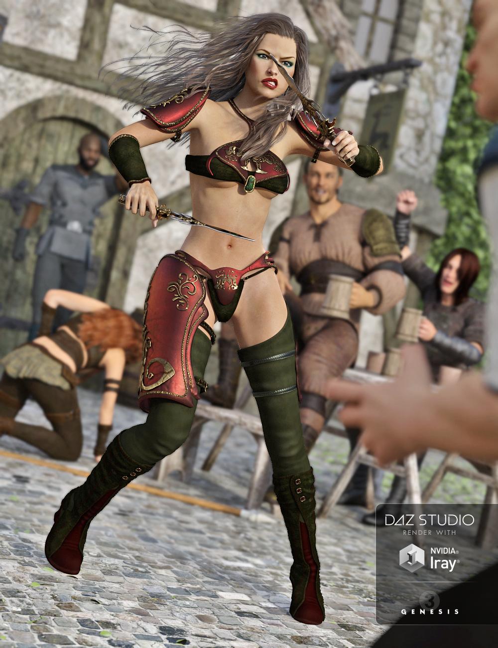 Battle Driven Outfit for Genesis 3 Female(s) by: Arien, 3D Models by Daz 3D