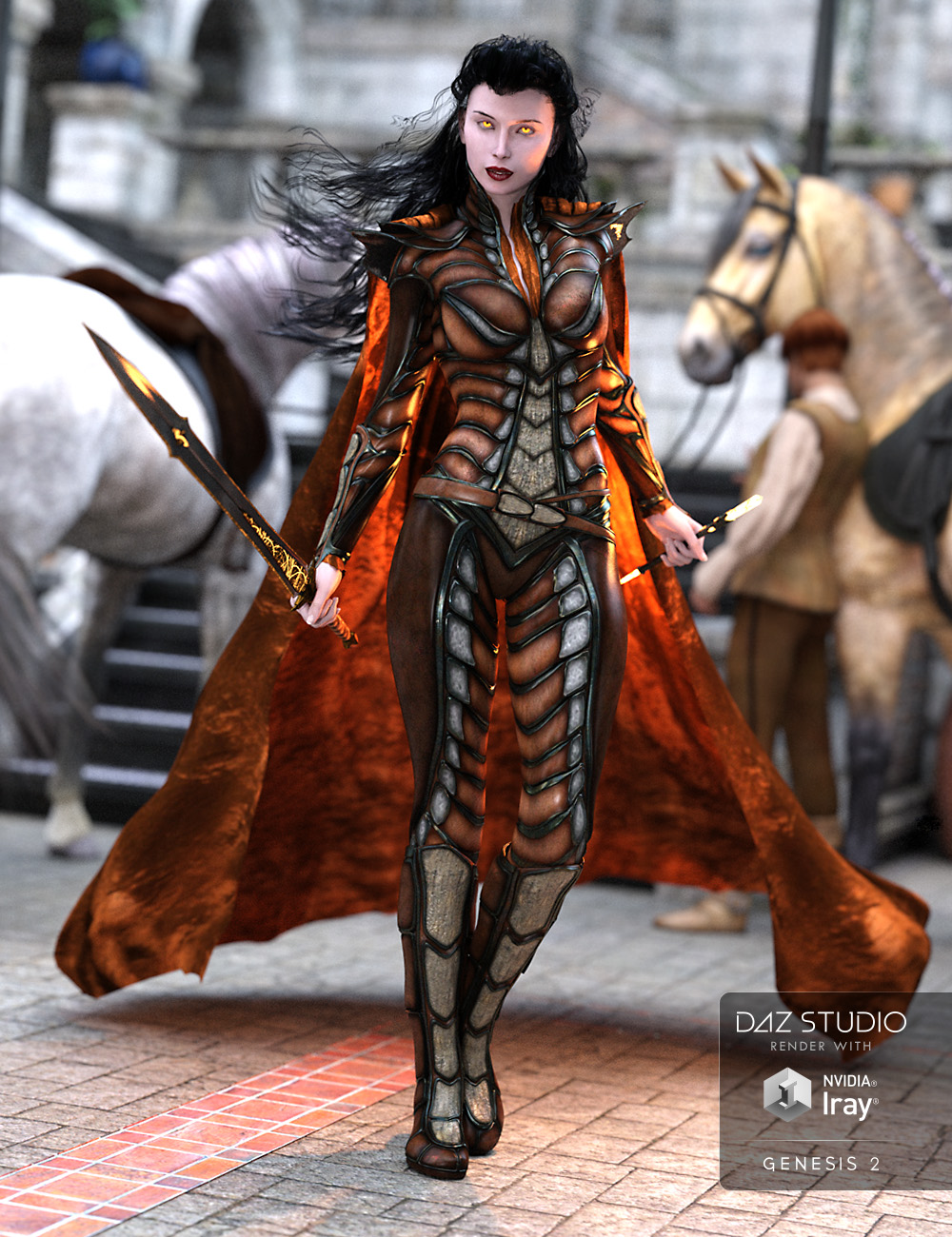 Rune Outfit for Genesis 2 Female(s) by: Arki, 3D Models by Daz 3D