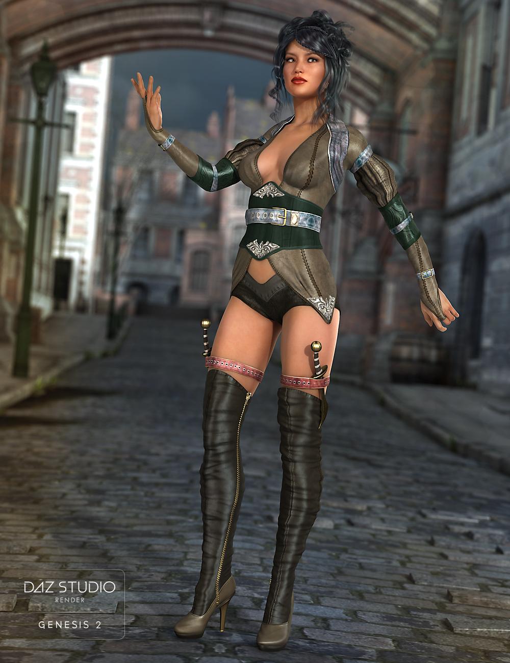Renegade Hunter for Genesis 2 Female(s) by: NikisatezShox-Design, 3D Models by Daz 3D