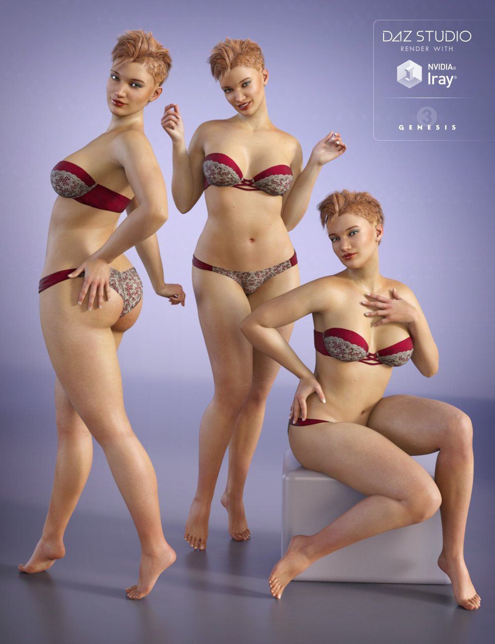 Capsces Cute and Flirty Poses for Bethany 7 by: Capsces Digital Ink, 3D Models by Daz 3D