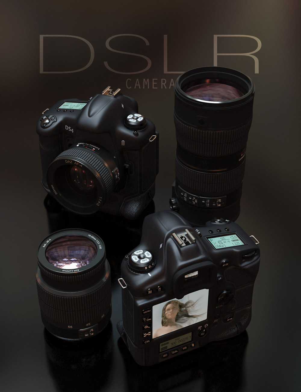 Professional DSLR Camera by: Age of Armour, 3D Models by Daz 3D