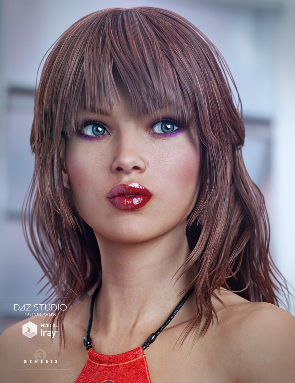 Paisley Hair for Genesis 3 Female(s) by: goldtassel, 3D Models by Daz 3D