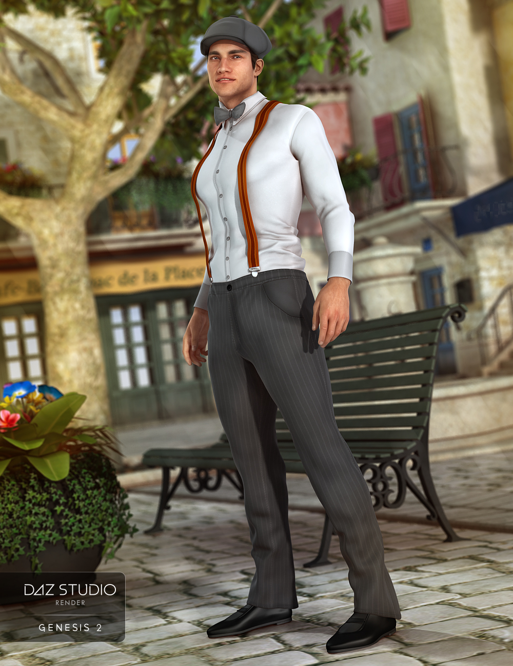 Retro Outfit for Genesis 2 Male(s) by: NikisatezShanasSoulmate, 3D Models by Daz 3D