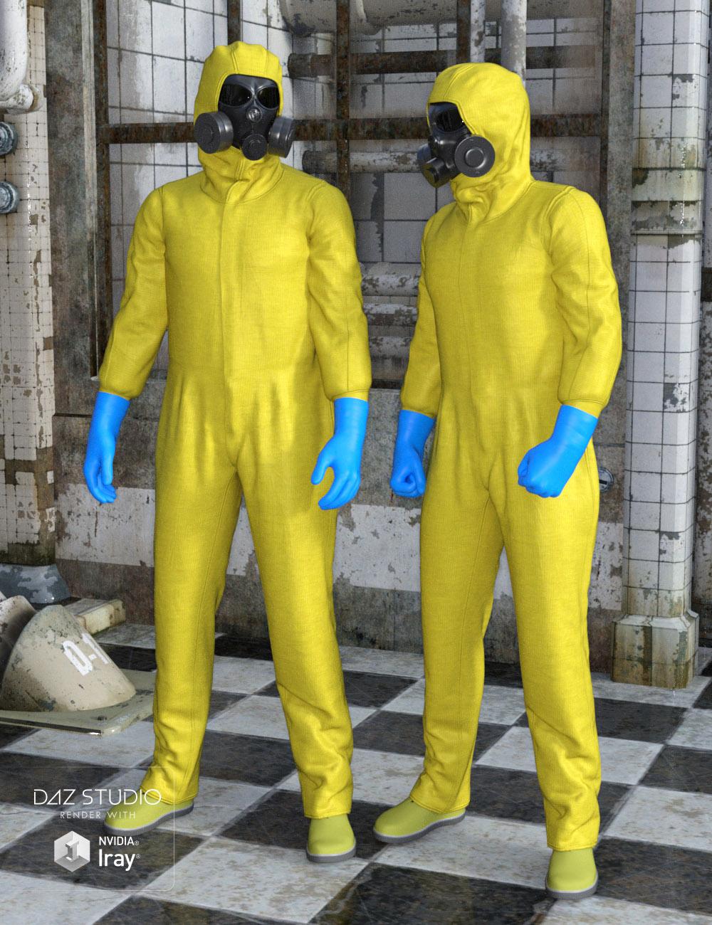 Hazmat Suit for Genesis 2 Male(s) by: Oskarsson, 3D Models by Daz 3D