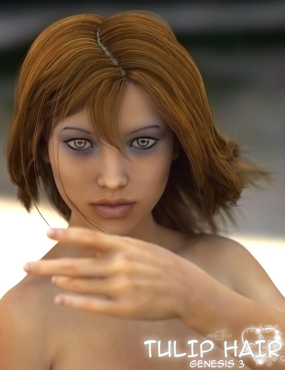 Tulip Hair for Genesis 3 Female(s) by: Aeon Soul, 3D Models by Daz 3D