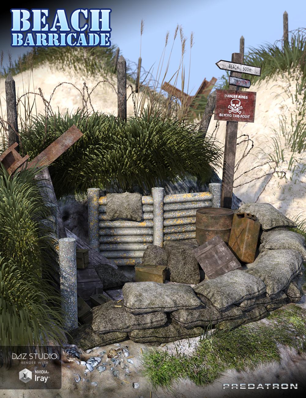 Beach Barricade by: Predatron, 3D Models by Daz 3D