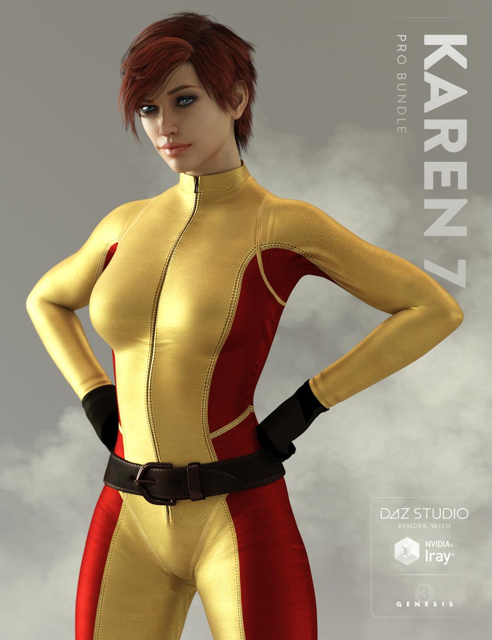 Karen 7 Pro Bundle by: , 3D Models by Daz 3D