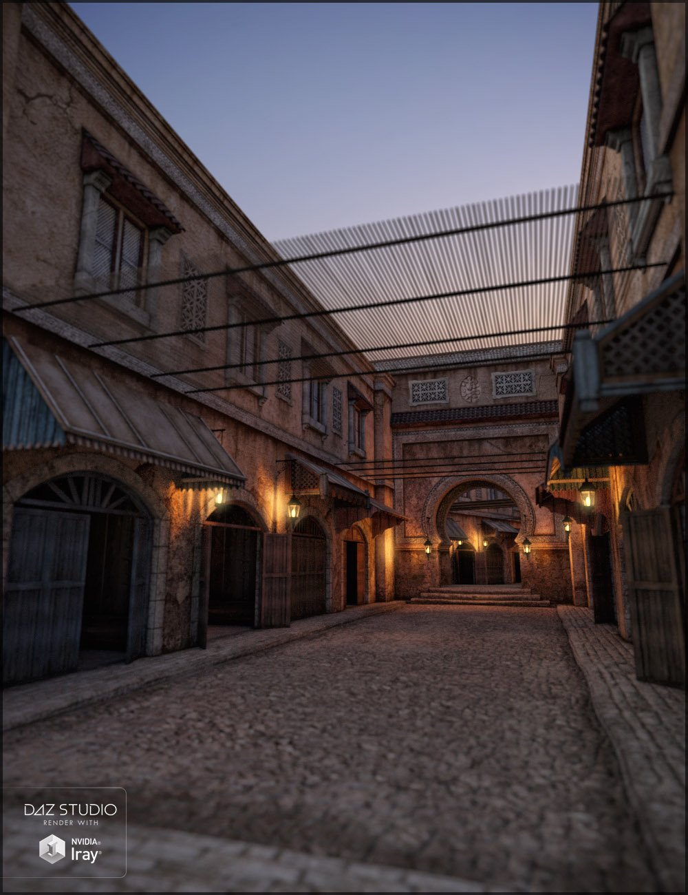 Marrakesh Souks Iray by: Jack Tomalin, 3D Models by Daz 3D