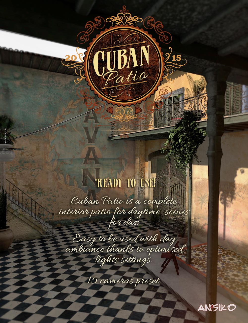 Cuban Patio by: Ansiko, 3D Models by Daz 3D