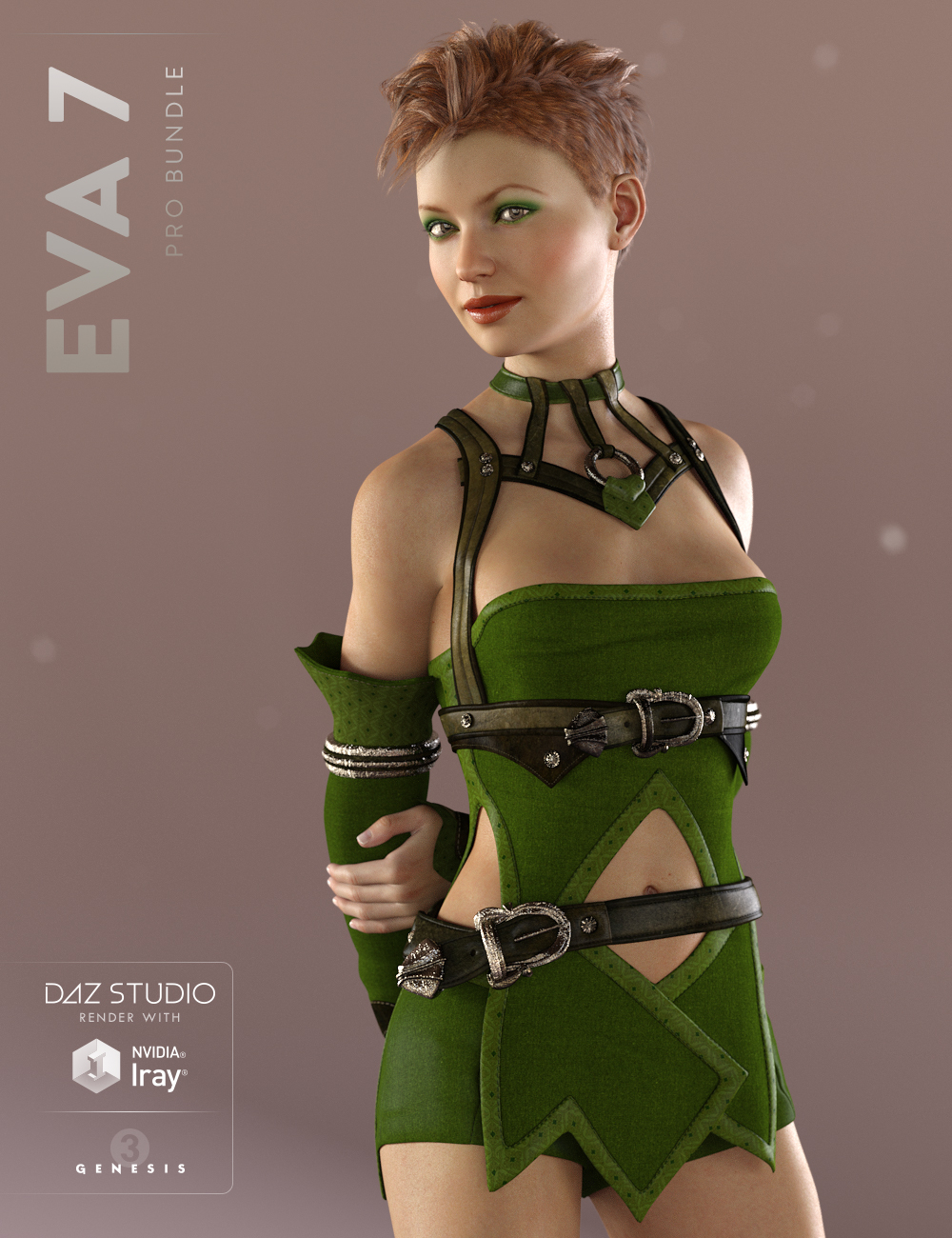 Eva 7 Pro Bundle by: , 3D Models by Daz 3D