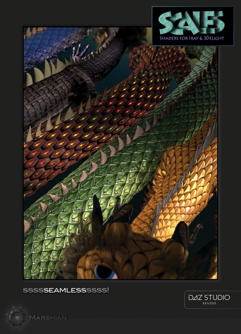 Scale Shaders by: MarshianMarshian2, 3D Models by Daz 3D