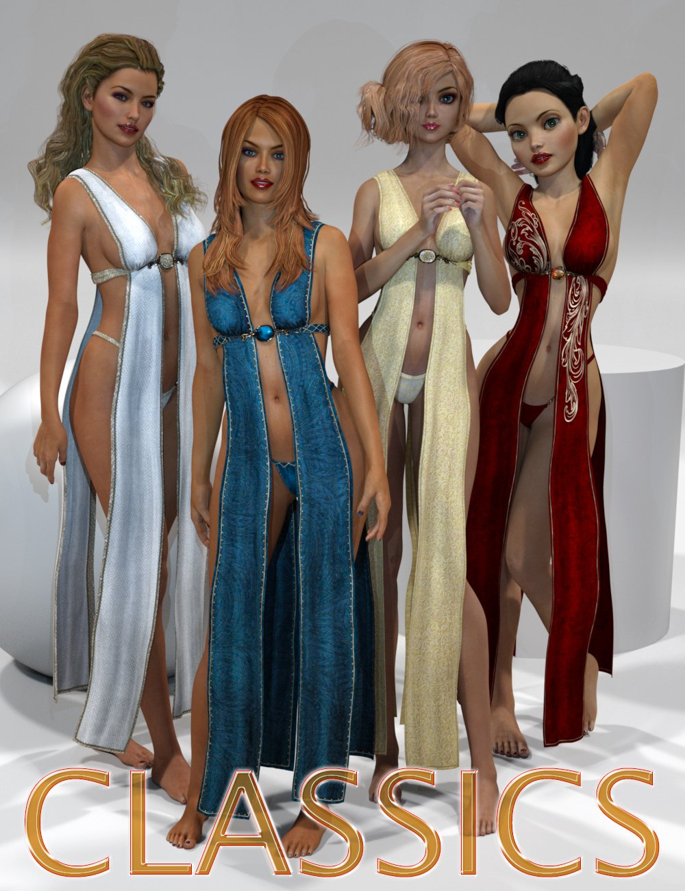 Genesis 2 Legacies for Genesis 3 Female: Classics by: SloshWerks, 3D Models by Daz 3D