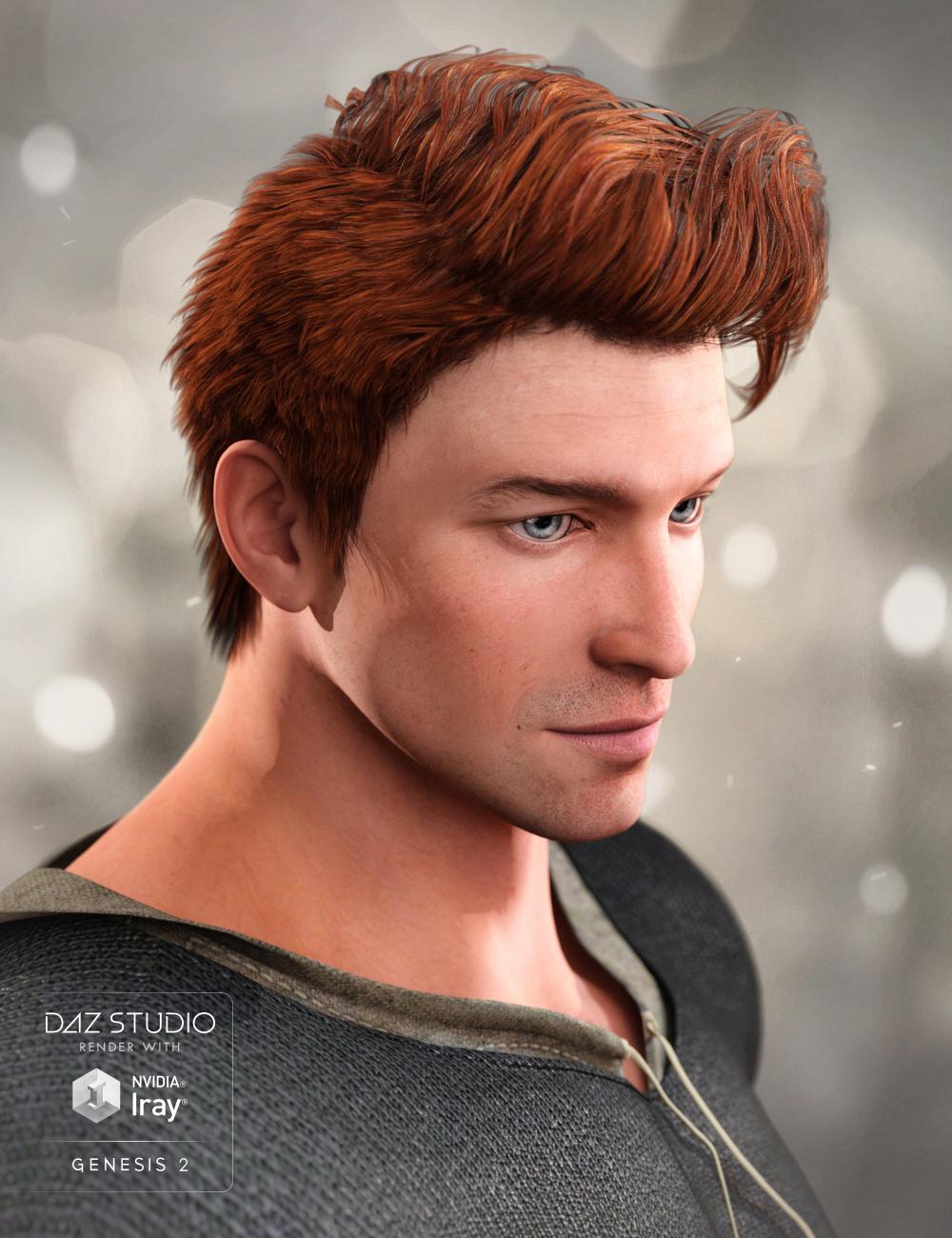Funky Hair for Genesis 2 Male(s) by: goldtassel, 3D Models by Daz 3D