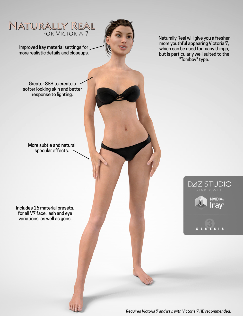 Naturally Real for Victoria 7 by: Half Life, 3D Models by Daz 3D