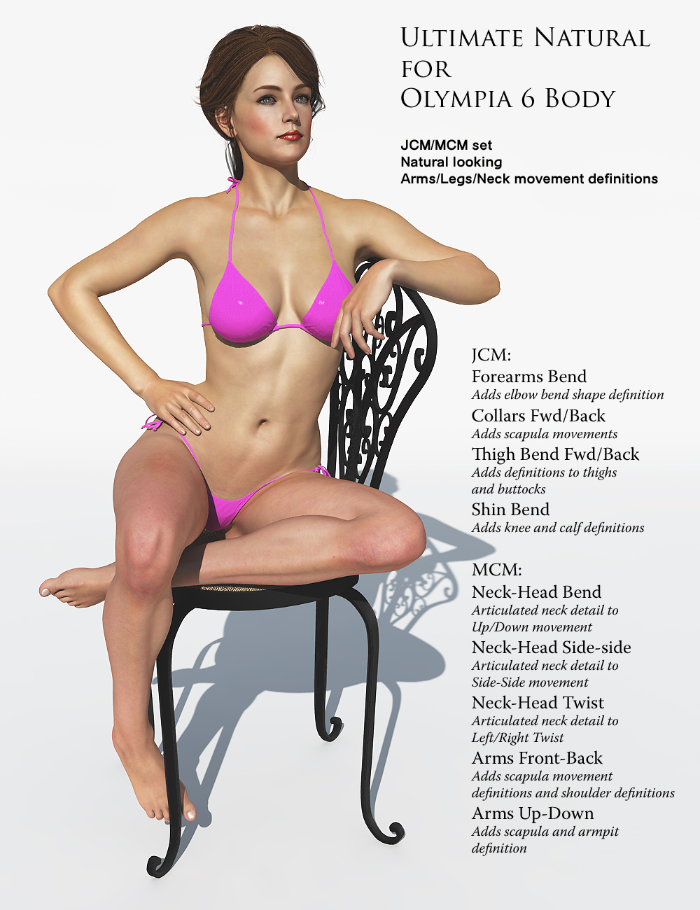 Ultimate Natural for Olympia 6 Body by: K.H. Image Studio, 3D Models by Daz 3D