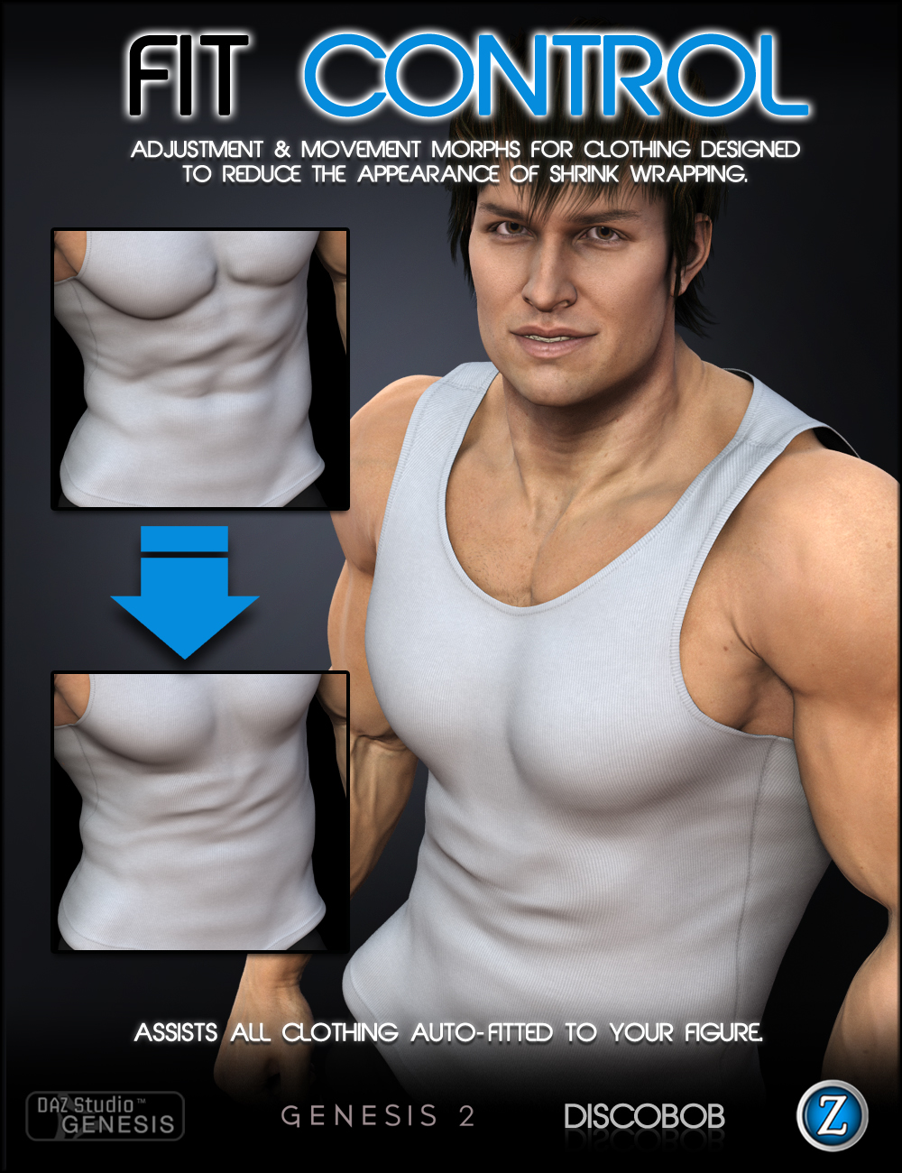 Fit Control for Genesis and Genesis 2 Male(s) by: Zev0Discobob, 3D Models by Daz 3D