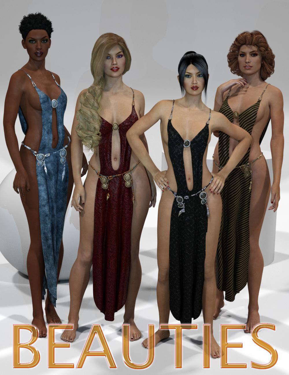 Genesis 2 Legacies for Genesis 3 Female: Beauties by: SloshWerks, 3D Models by Daz 3D