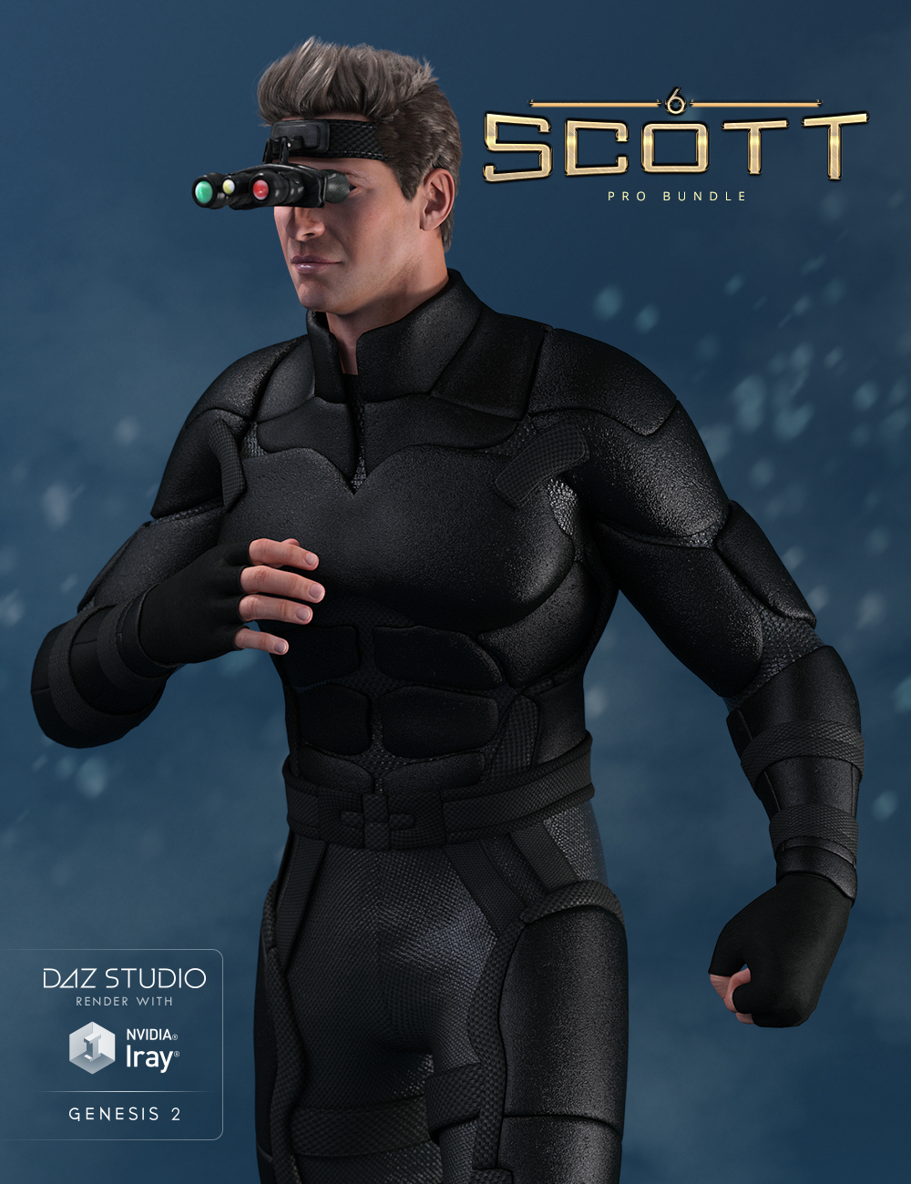 Scott 6 Pro Bundle by: , 3D Models by Daz 3D