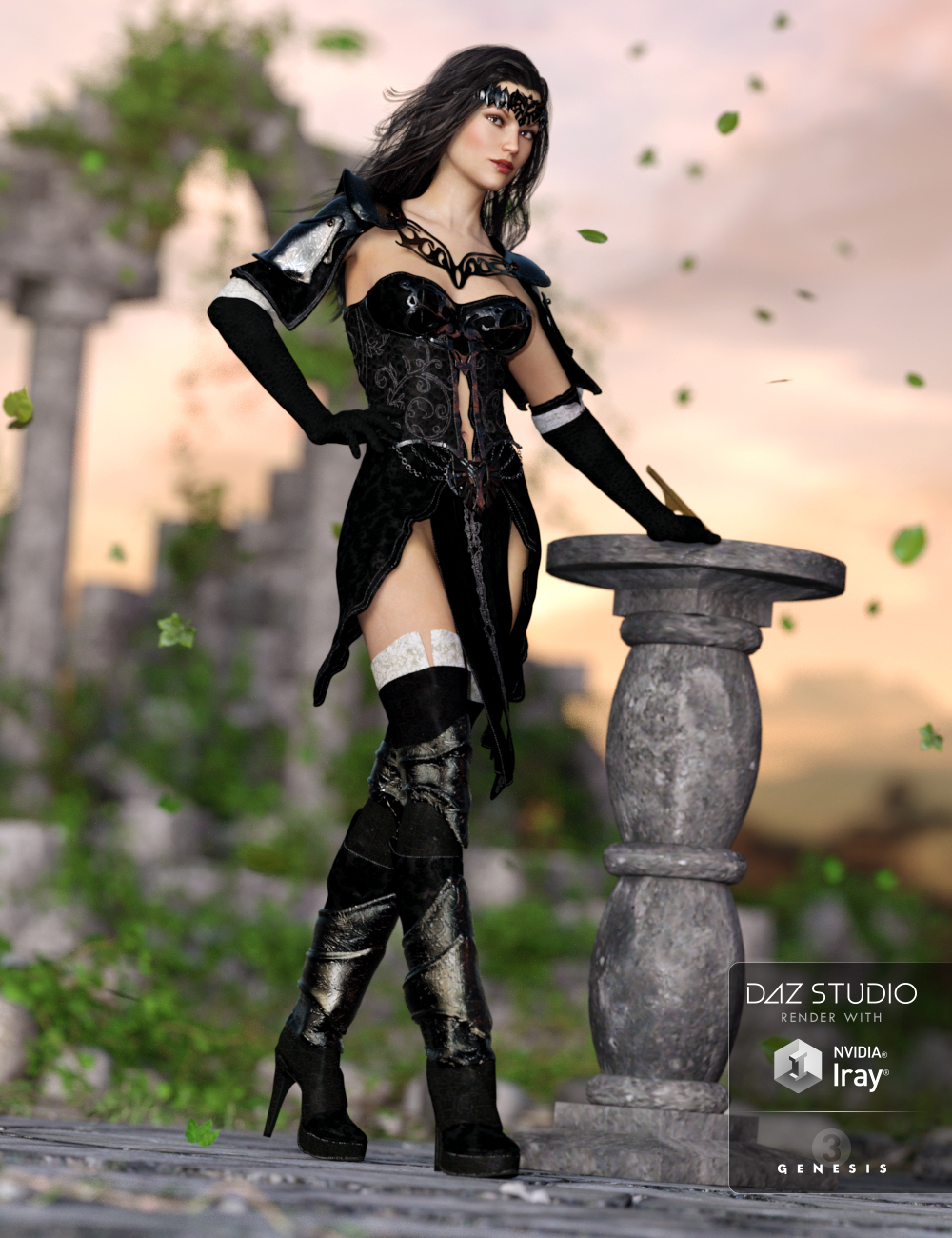 Oracle of Time for Genesis 3 Female(s) by: Anna BenjaminBarbara Brundon, 3D Models by Daz 3D