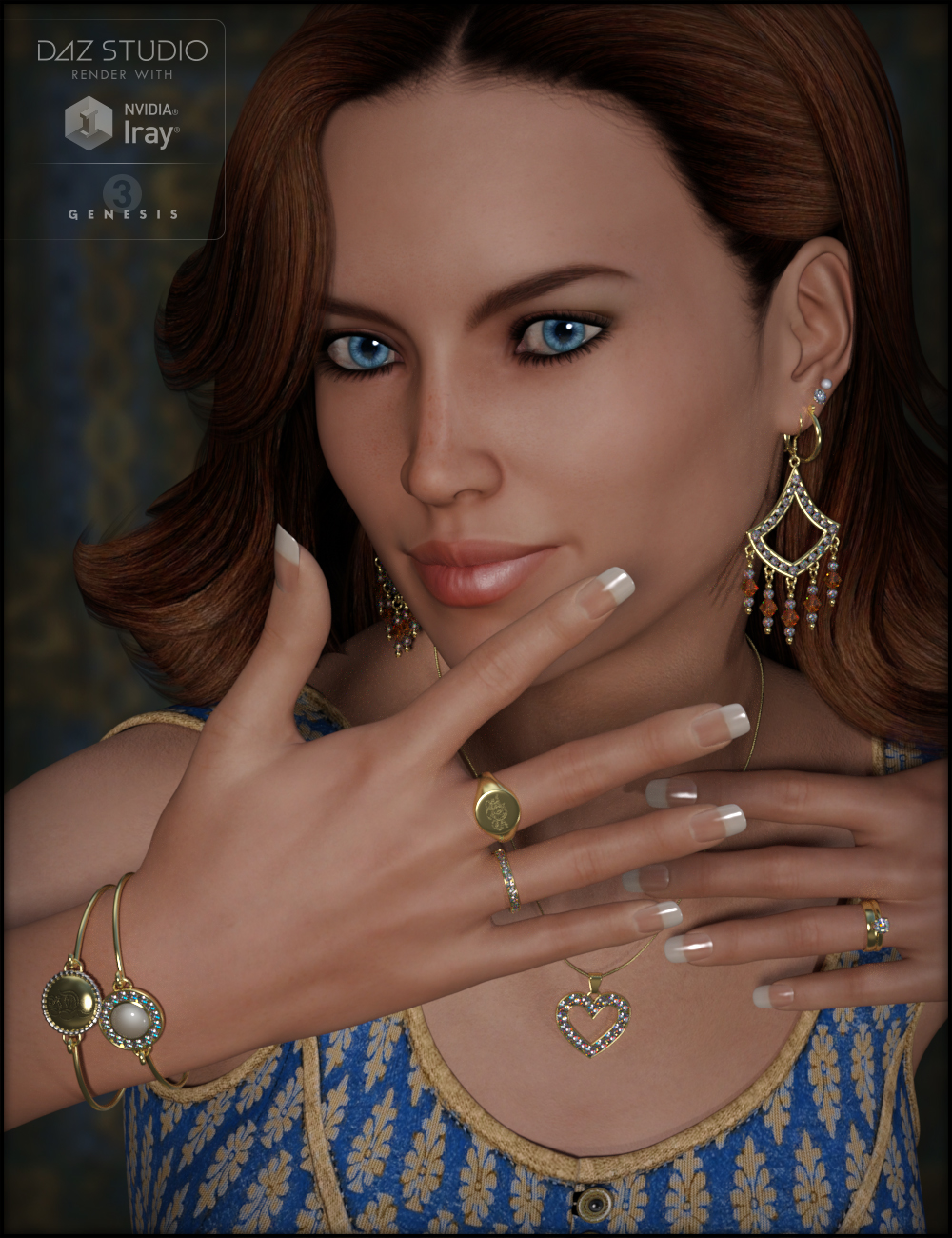 Jewelry Basics for Genesis 3 Female(s) by: Fisty & Darc, 3D Models by Daz 3D