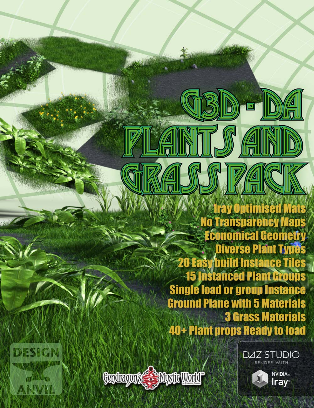 G3D-DA Grass and Plant Pack by: Design AnvilGendragon3D, 3D Models by Daz 3D