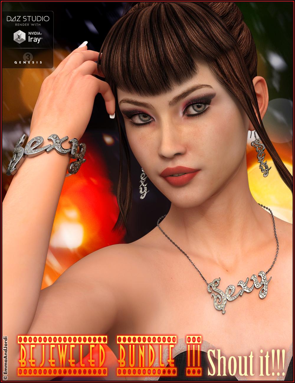 Bejeweled Bundle 3: Shout It by: EmmaAndJordi, 3D Models by Daz 3D