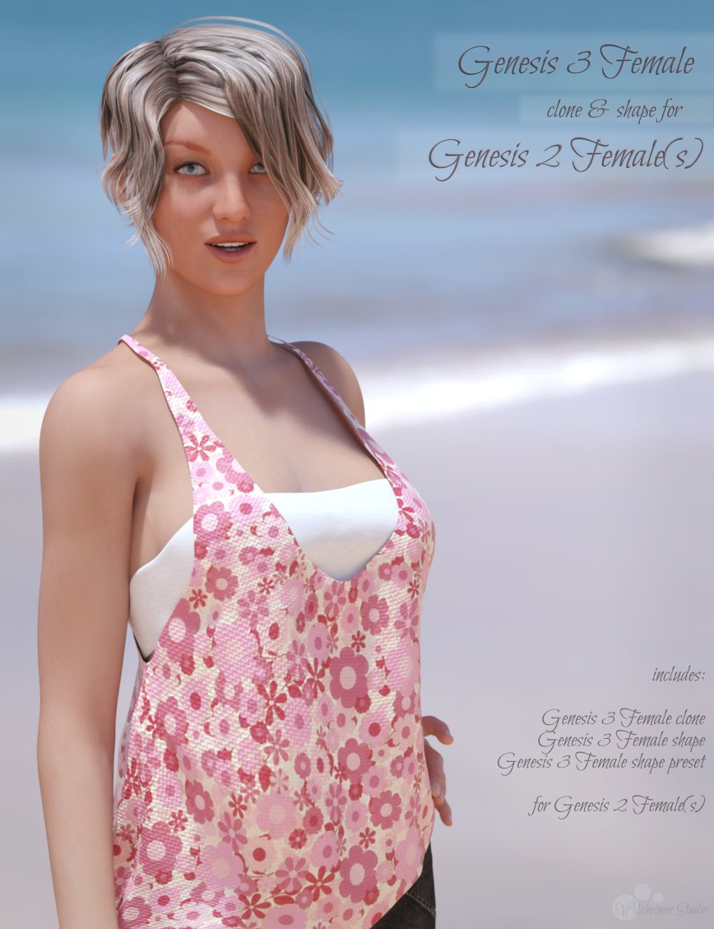 Genesis 3 Female for Genesis 2 Female(s) by: valzheimer, 3D Models by Daz 3D