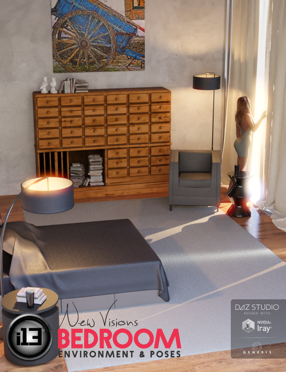 i13 New Visions Bedroom by: ironman13, 3D Models by Daz 3D