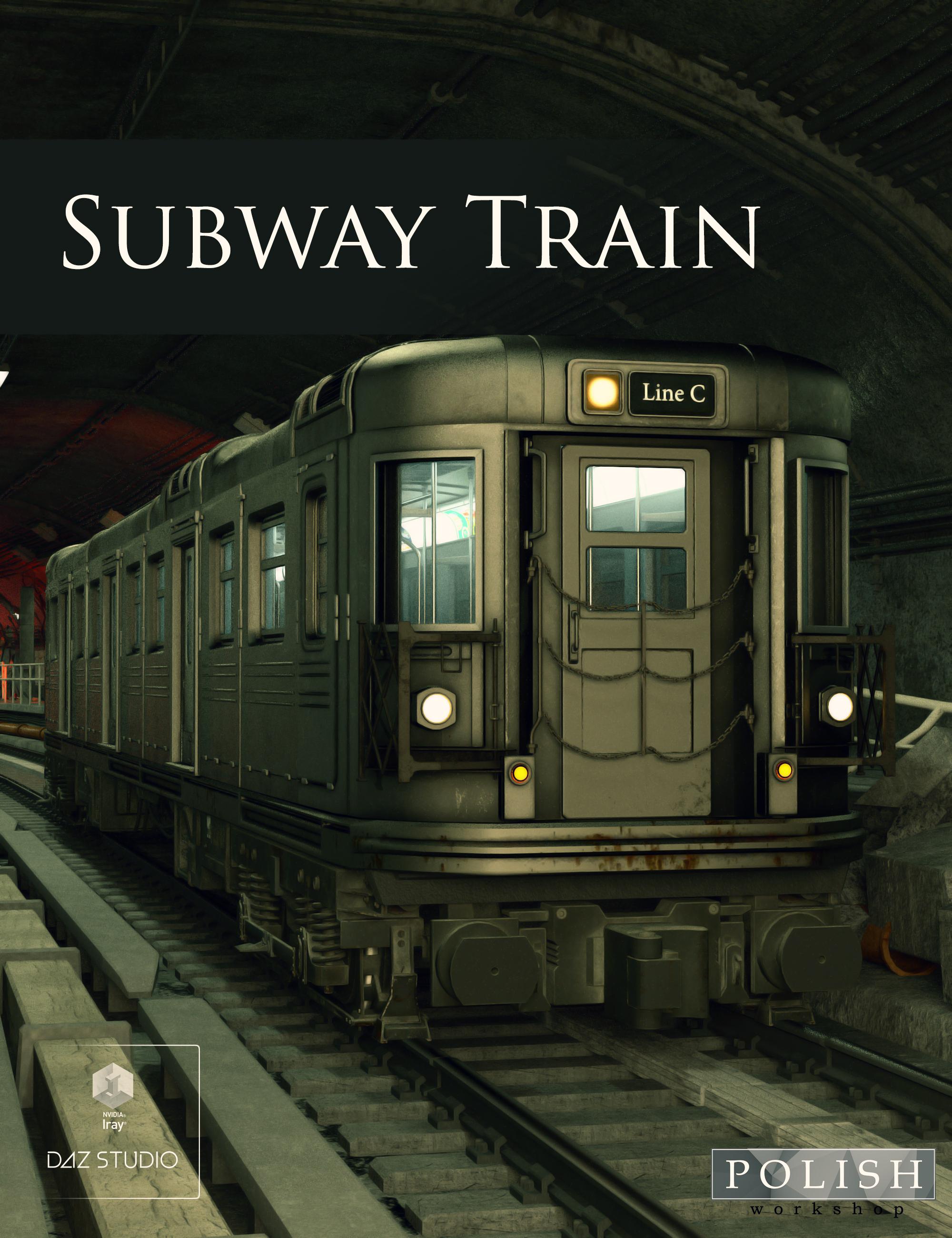 Subway Train by: Polish, 3D Models by Daz 3D