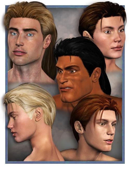 WedgeCut Hair 2.0 by: 3D Universe, 3D Models by Daz 3D