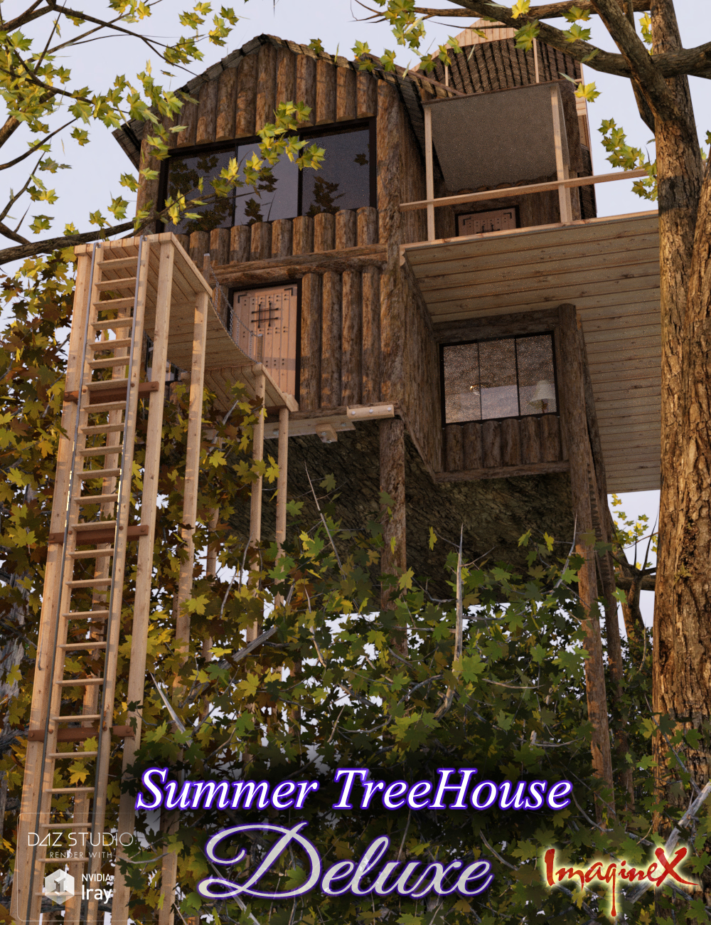 Summer Tree House Deluxe by: ImagineX, 3D Models by Daz 3D