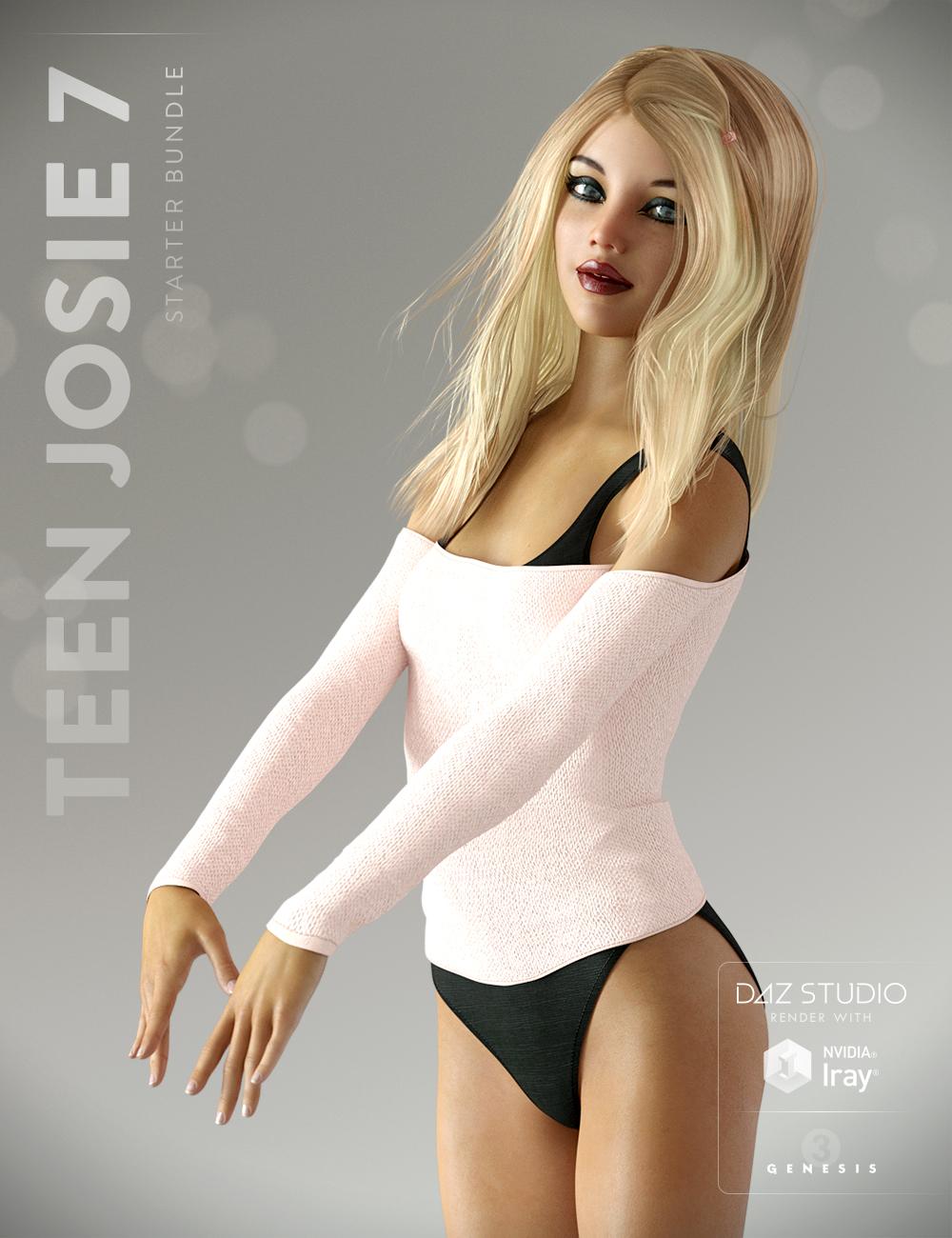 Teen Josie 7 Starter Bundle by: , 3D Models by Daz 3D