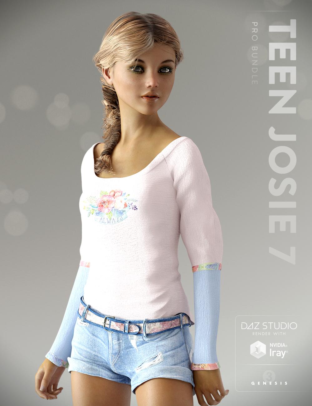 Teen Josie 7 Pro Bundle by: , 3D Models by Daz 3D