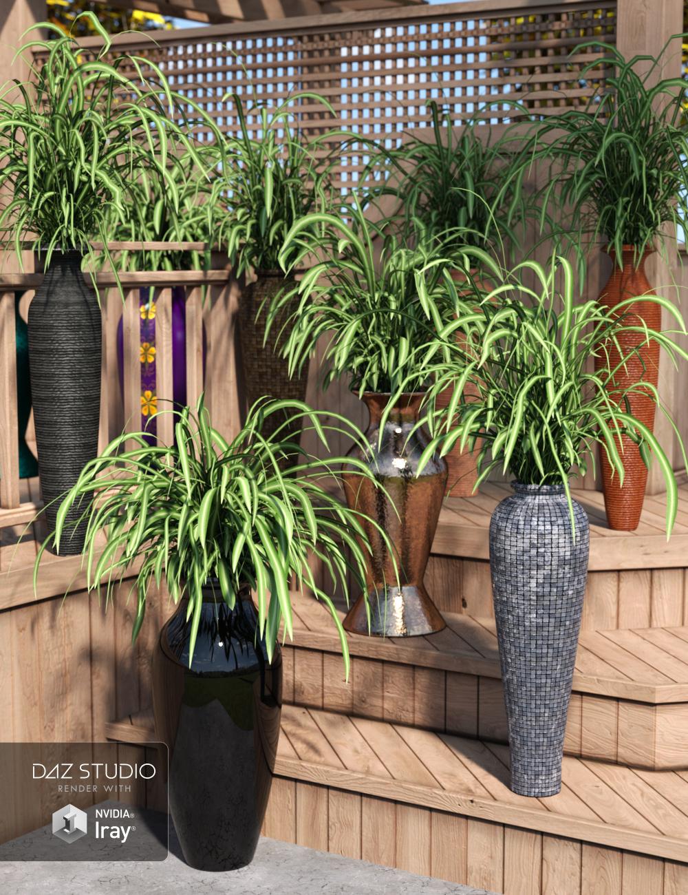 Decor Basics - Floor Vases by: ARTCollab, 3D Models by Daz 3D