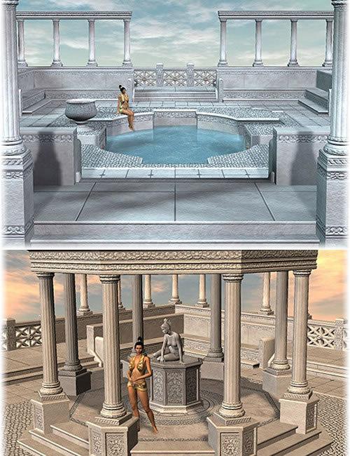The Greek Bath by: AbrahamDaniemarforno, 3D Models by Daz 3D