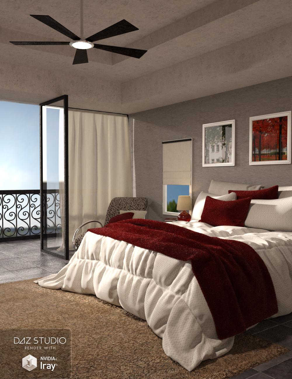 Classic Comfort Bedroom by: Nikisatez, 3D Models by Daz 3D