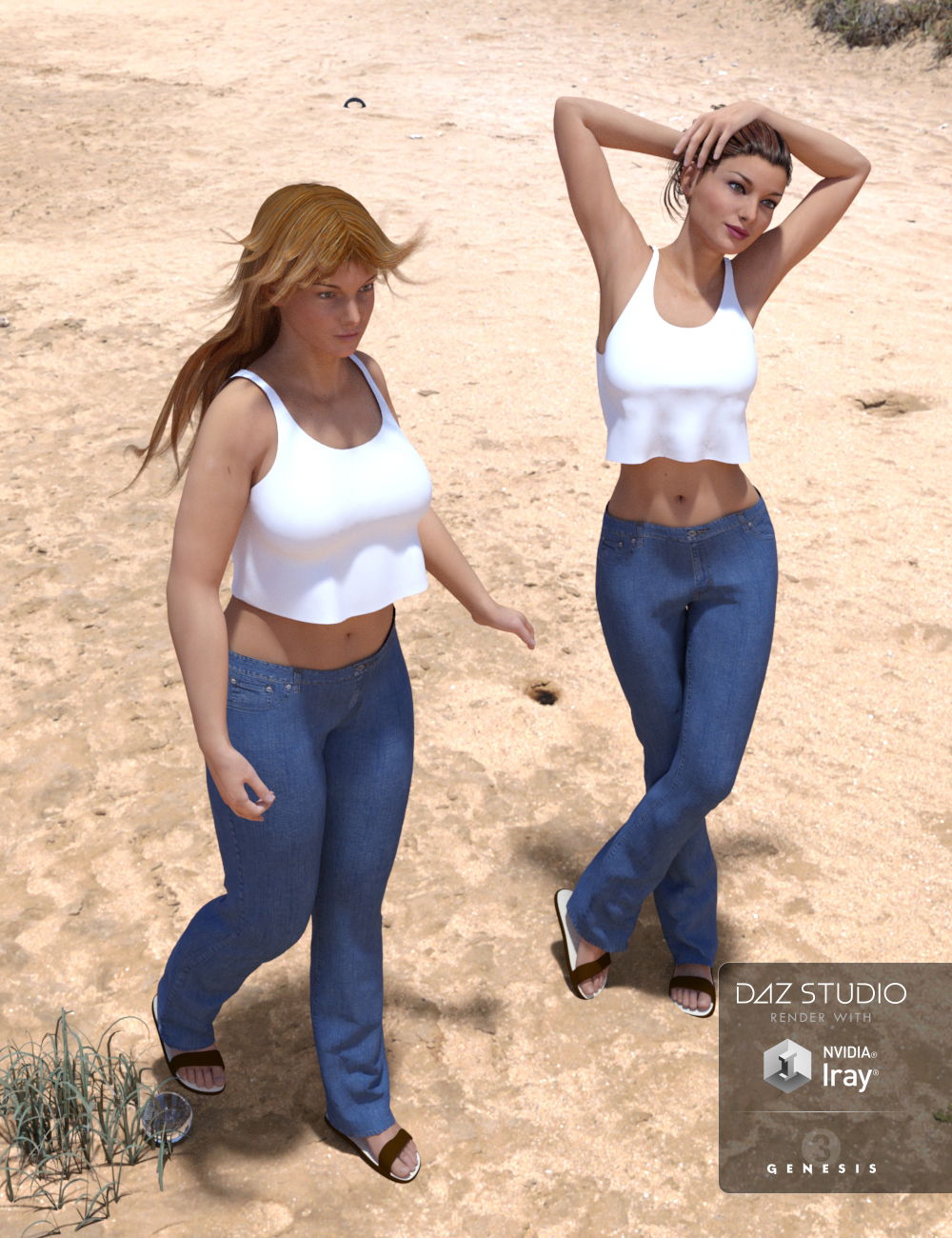 Sunny for Genesis 3 Female(s) by: Aave Nainen, 3D Models by Daz 3D
