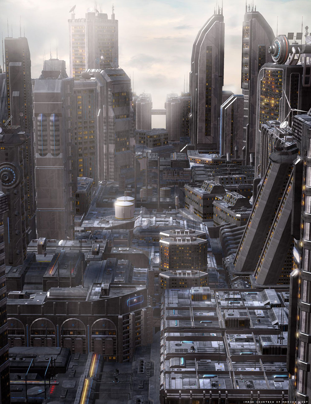 Future Cityscape Density Blocks by: inception8, 3D Models by Daz 3D