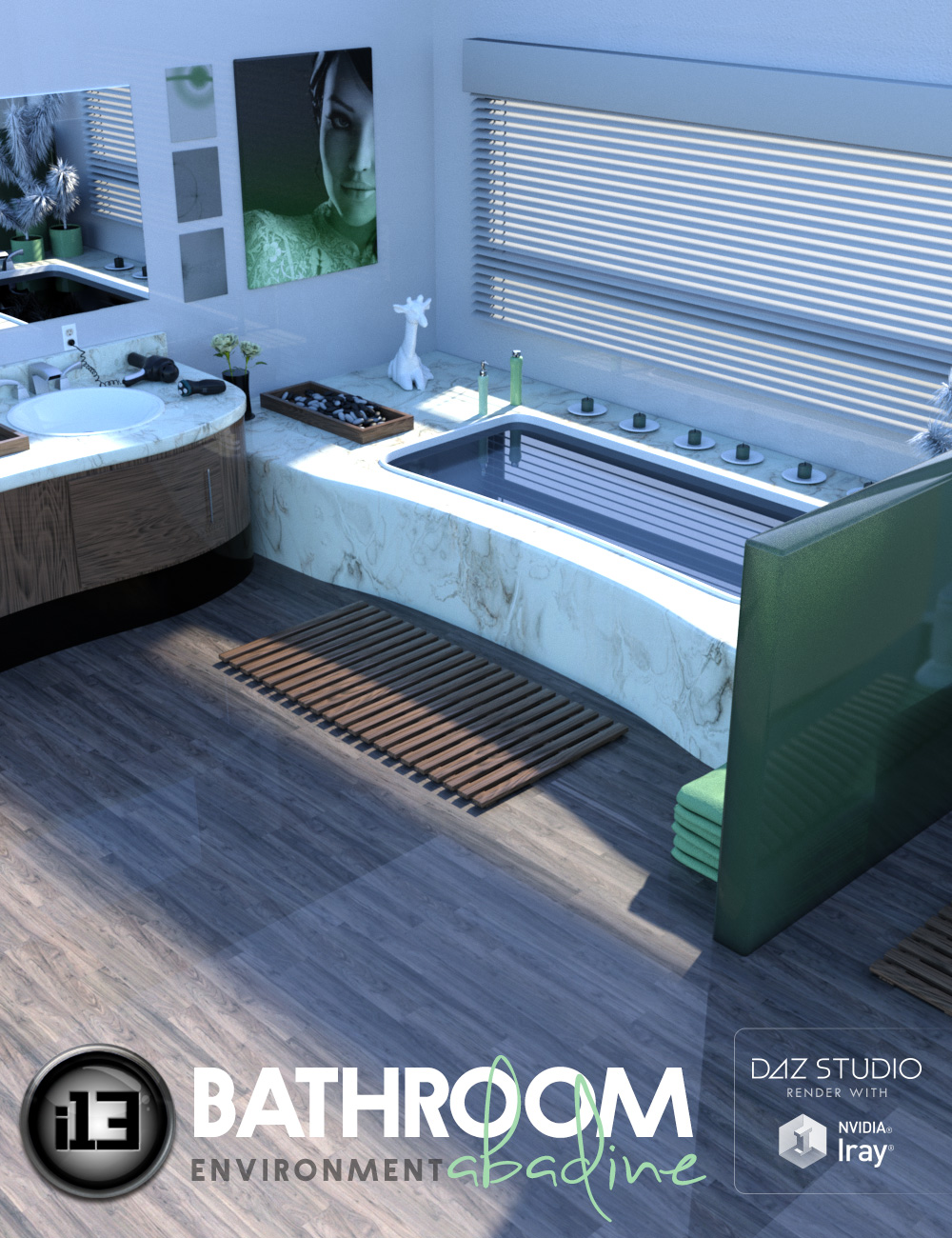 i13 Bathroom Abadine by: ironman13, 3D Models by Daz 3D