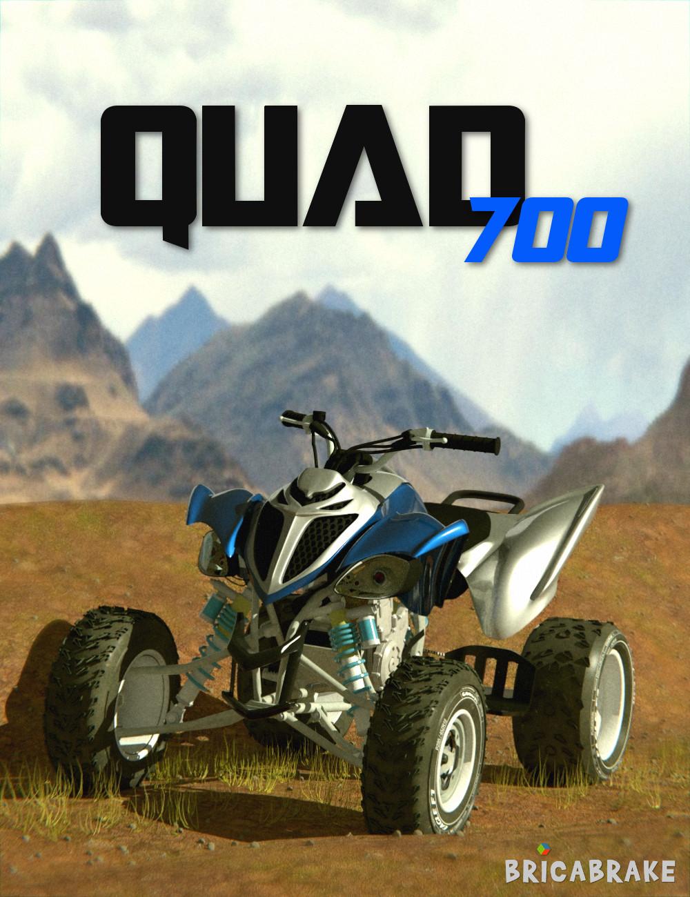 Quad 700 by: ELS, 3D Models by Daz 3D