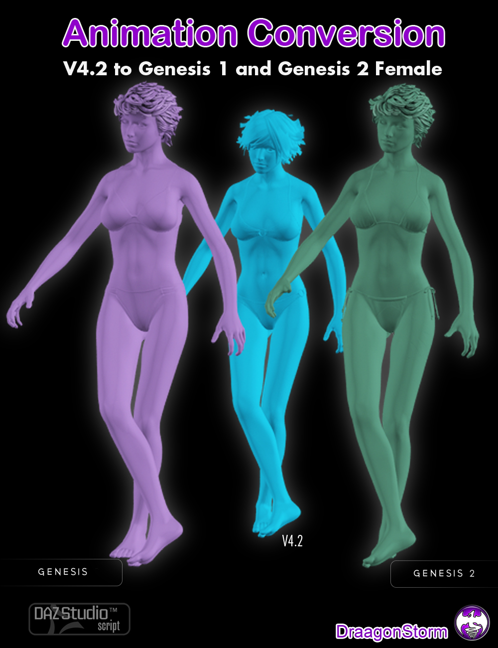 Animation Conversion V4.2 to Genesis and Genesis 2 Female by: DraagonStorm, 3D Models by Daz 3D
