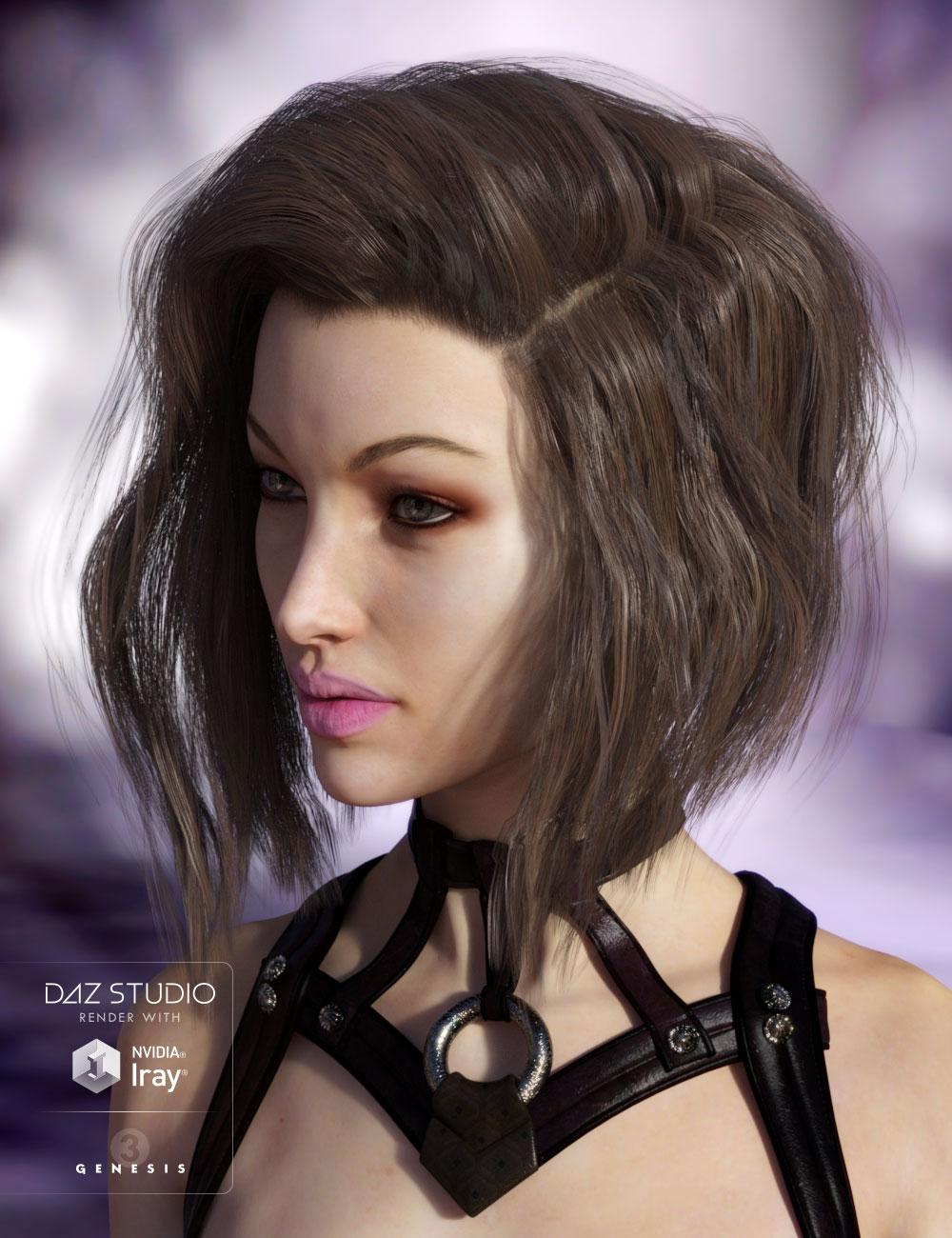 Coleraine Hair by: AprilYSH, 3D Models by Daz 3D