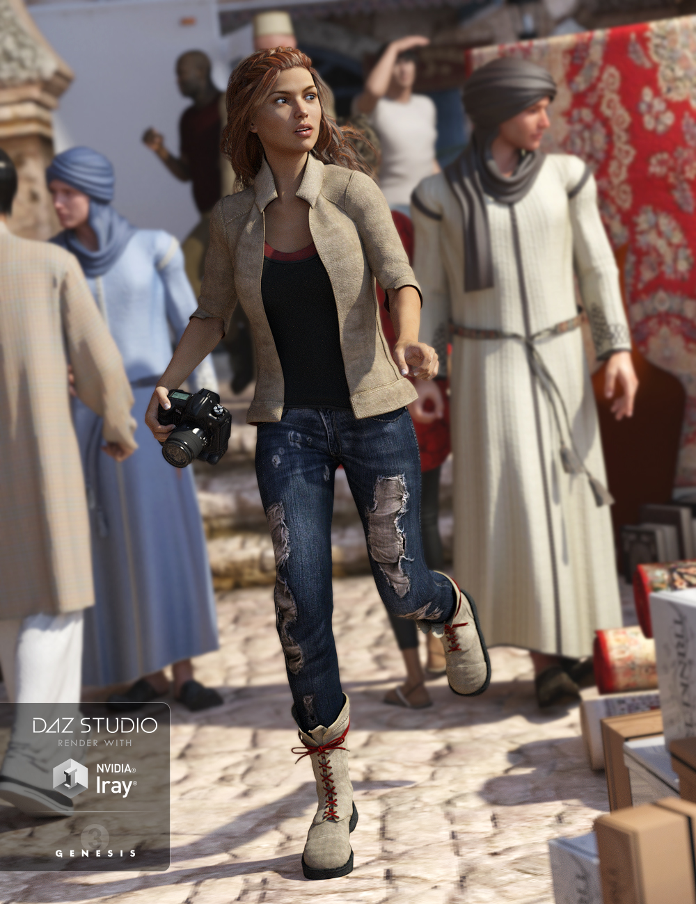 Adventure Outfit for Genesis 3 Female(s) by: Barbara BrundonSarsa, 3D Models by Daz 3D