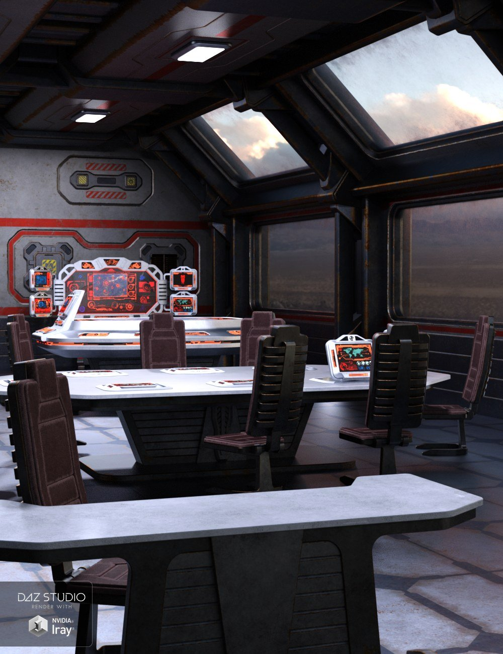 Sci Fi Stronghold Tactical Room by: Nightshift3D, 3D Models by Daz 3D