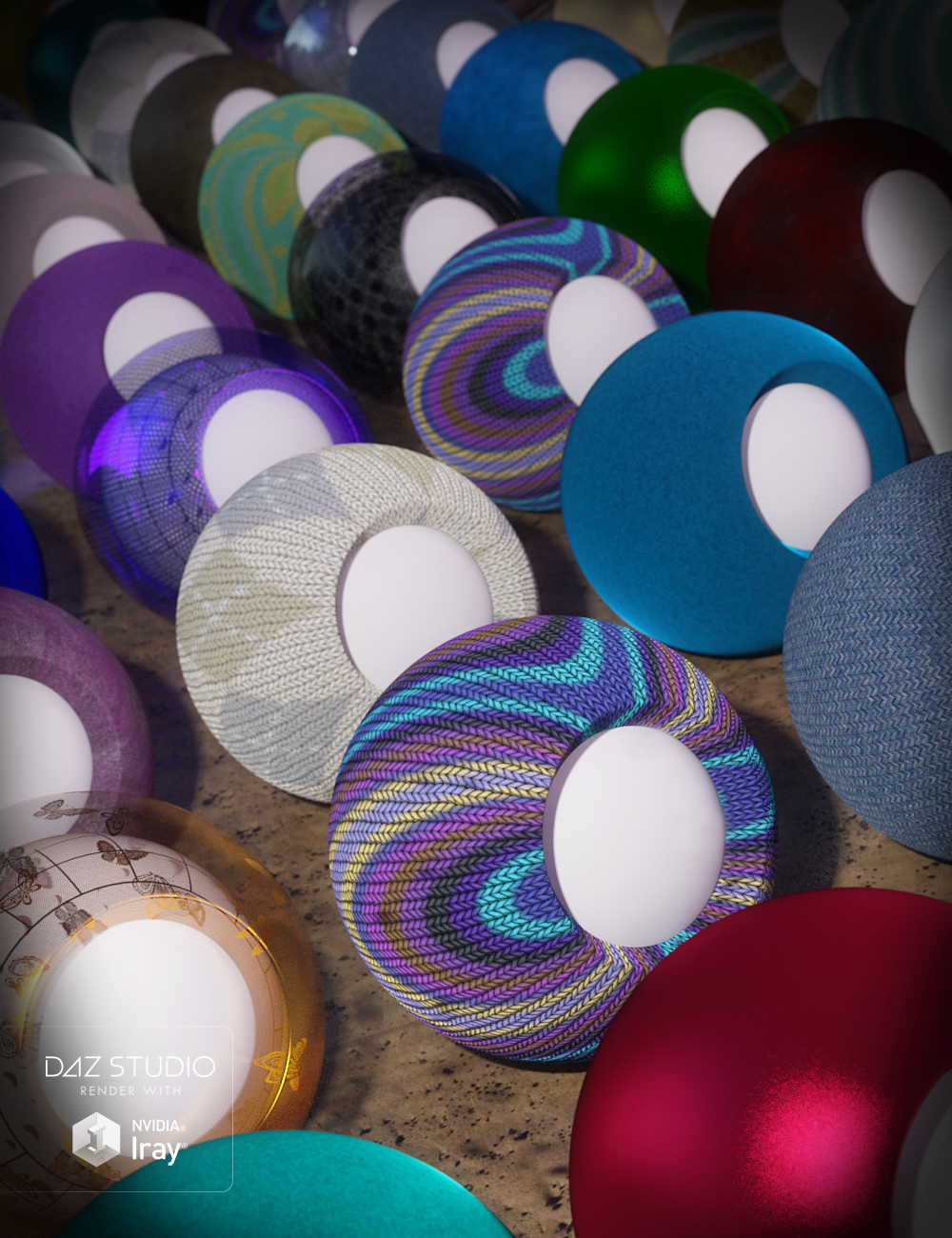 Elegant Fabric Iray Shaders by: JGreenlees, 3D Models by Daz 3D