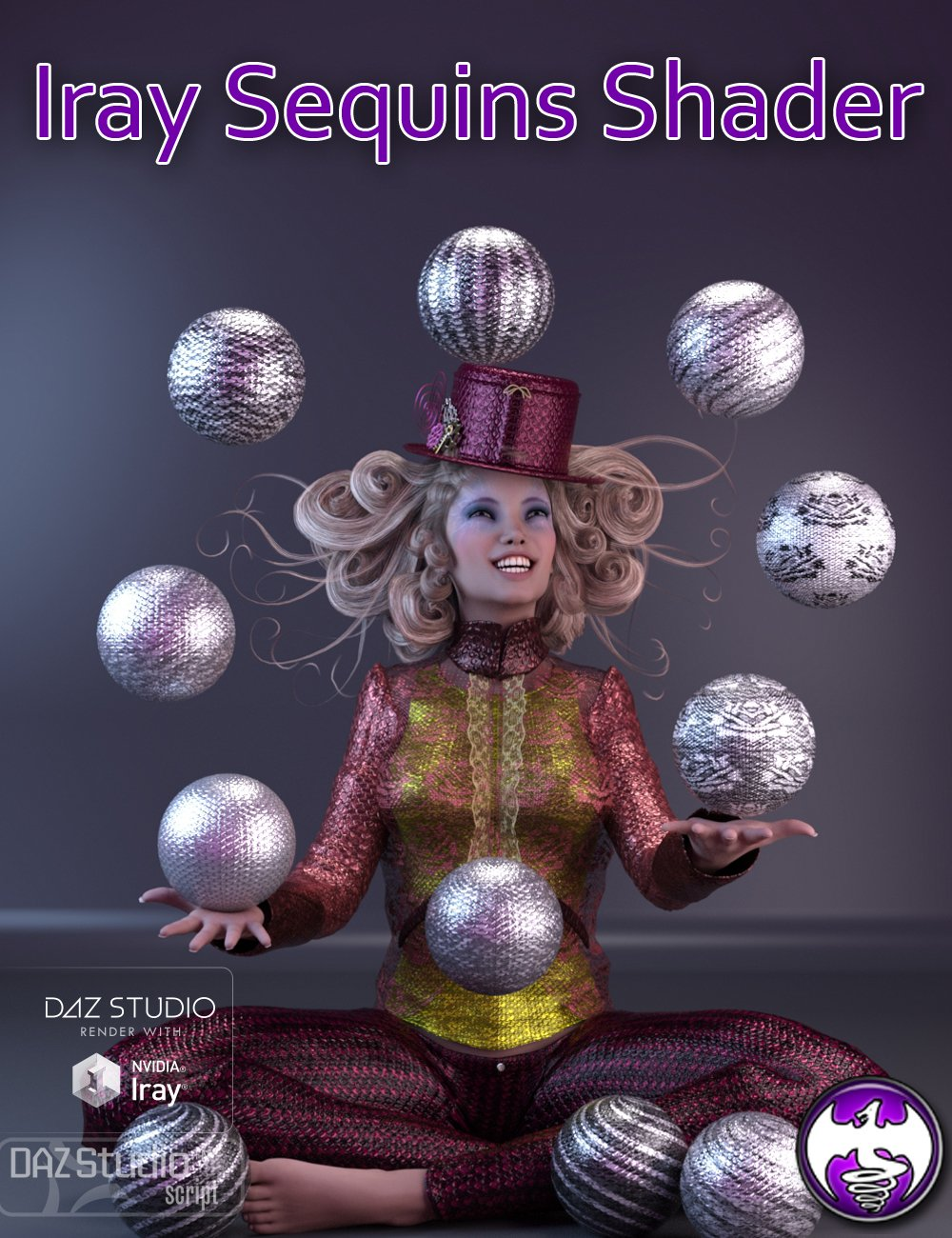 Iray Sequins Shader by: DraagonStorm, 3D Models by Daz 3D