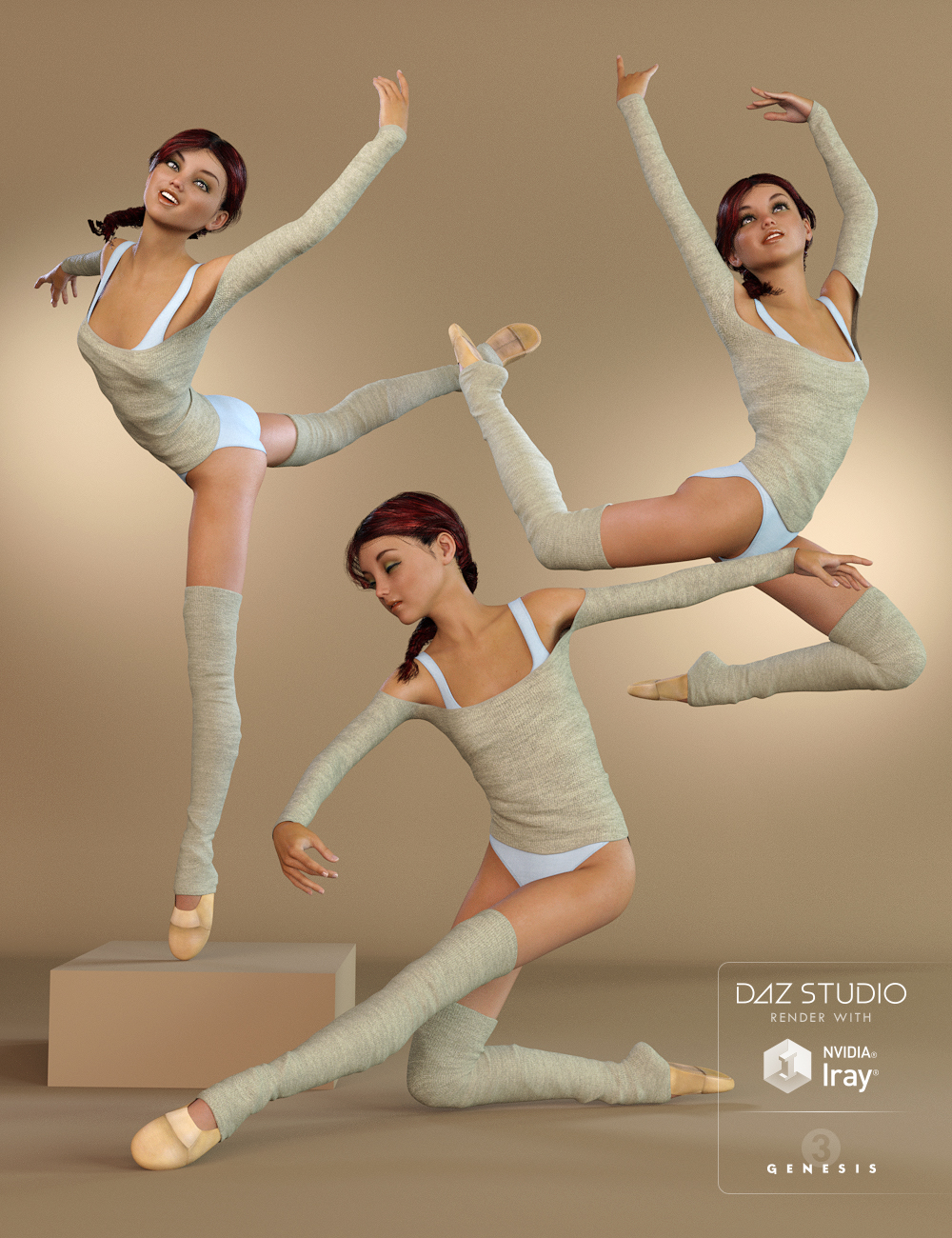 Classical Dance Poses for Genesis 3 Female(s) by: Val3dart, 3D Models by Daz 3D